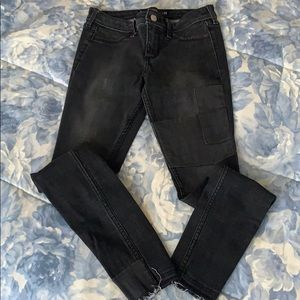 Hollister black jean legging